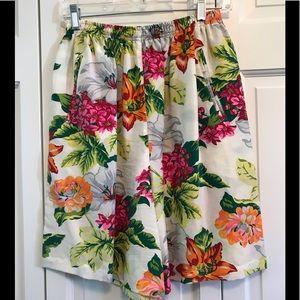 Adrienne Vittadini Floral Silk Shorts